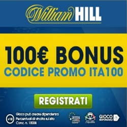 Bonus Benvenuto Scommesse William Hill